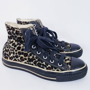 Converse limited edition fuzzy leopard chucks 8